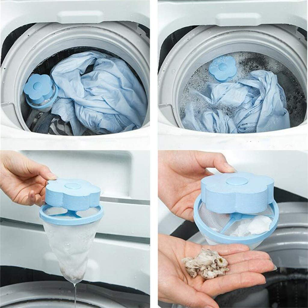 Washing Machine Lint Floating Hair Pouch Laundry Tool Mesh Catcher Filter Bag