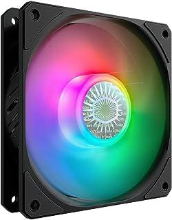 Cooler Master SickleFlow 120 V2 ARGB 120mm Square Frame Fan, Customizable LEDs, Air Balance Curve Blade Design, Sealed Bea...
