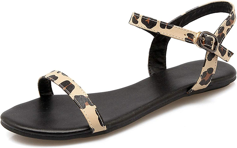 Mo Duo 2018 Women shoes Summer Women Sandals Leopard Flat Sandals Women Casual shoes