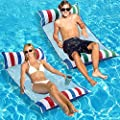 Inflatable Pool Float, 2-Pack Adult Pool Floaties, Multi-Purpose 4-in-1 Swimming Water Floating Rafts ( Saddle, Lounge Chair, Hammock, Drifter) for Pool, Lake, Beach, River