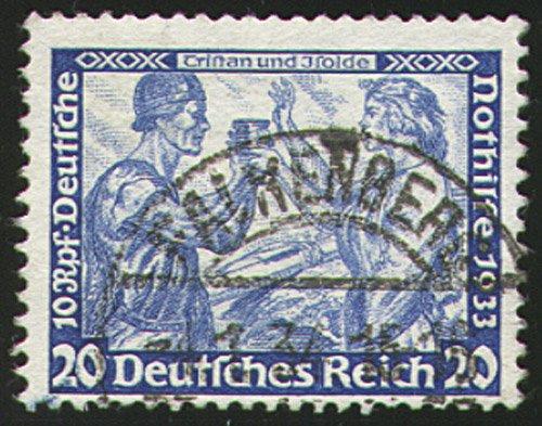 Goldhahn Deutsches Reich Nr. 505A gestempelt 20 Pfennig Wagner - Briefmarken ...