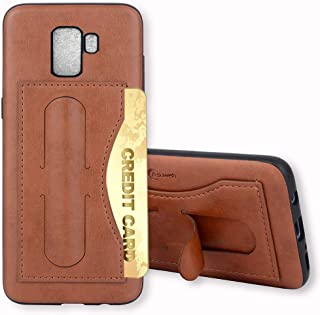 Galaxy S9 Case,Phone Cases Wallet Leather with Credit Card Holder Slot Kickstand Stand Heavy Duty Hard Rugged Shockproof Protective Cover for Samsung Galaxy S 9 9S GS9 Women Girls Men Brown