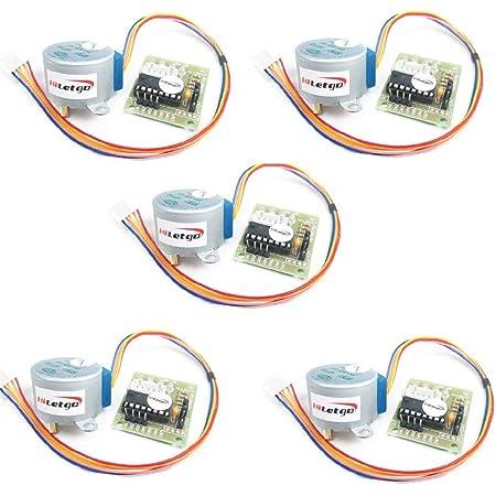 HiLetgo 5個セット 5V ステッピングモータ+ ULN2003ドライバーボード セット [並行輸入品]