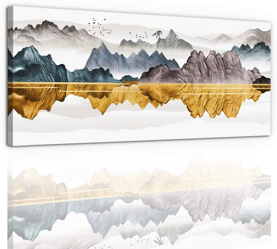 Abstract OFFicial mail order Mountains Wall Art For Manufacturer regenerated product Room Decorations Living