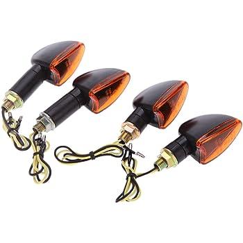 4x Mini Clignotant LED Marten noir clair e-vérifié pour moto scooter quad ATV