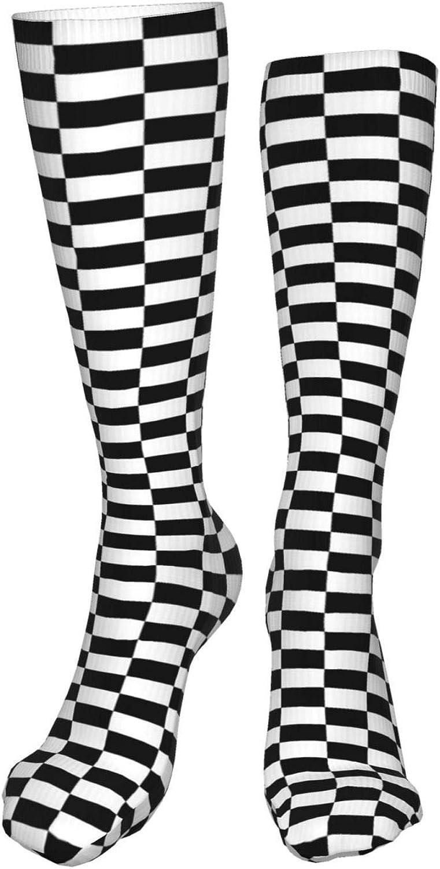 Chess Checkerboard Women Premium High Socks, Stocking High Leg Warmer Sockings Crew Sock For Daily And Work