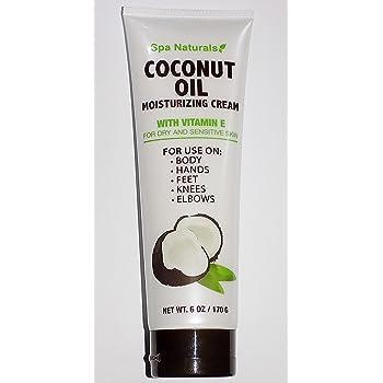 Spa Naturals Coconut Oil Moisturizing Cream With Vitamin E 6oz