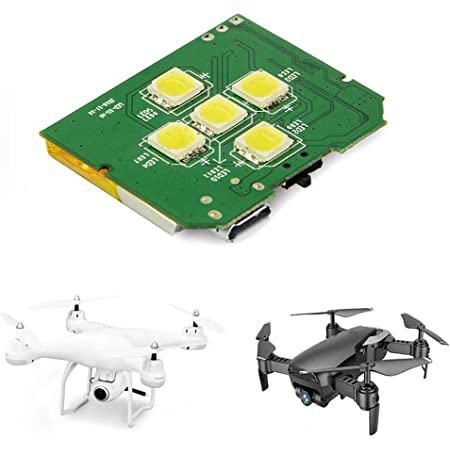 Drone Strobe, 5 White Cree LEDs Drone Strobe for Night Anti Collision, Fits All Multirotor Quadcopter Drones Like DJI Phantom, Mavic, Spark, DJI Inspire 1 2, Matrice, 3DR Solo, Matrice