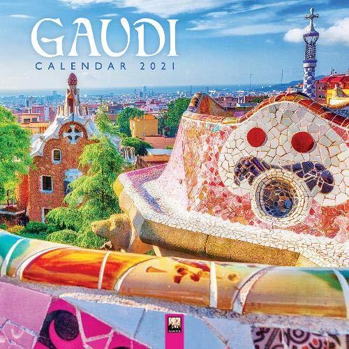 Gaudí - Antoni Gaudí 2021: Original Flame Tree Publishing-Kalender [Kalender] (Wall-Kalender)