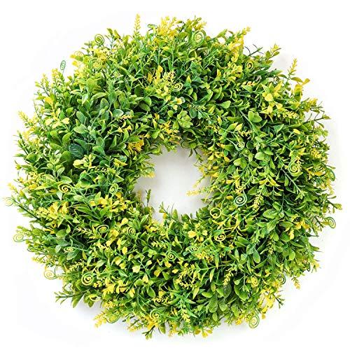 WFFF 18 Zoll künstliche Frühlingsblume Tür Kranz Frühlingsgirlande Home D & Eacute; COR für Fenster Wandparty Hochzeit hängende Dekorationen