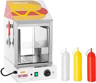 Royal Catering Macchina Per Hot Dog Cuoci Hot Dog Professionale RCHW 1000H (100 wurstel, 25 panini, 1.000 W)