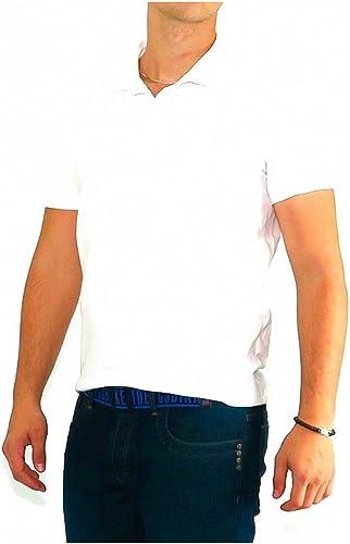 Bikkembergs - Polo Blanc Bleu Back
