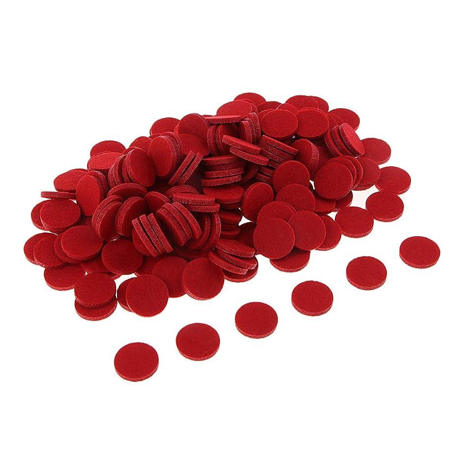 一致する迷路有効化chiwanji 精油付き ロマテラピー用オイルパッド チェアマット 交換用 香水 精油 車 全11色 約200個入り - 赤