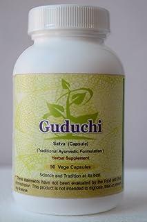 Guduchi Sat (Satva Giloy) (Tinospora Cordifolia) 90 Vege Capsules, 800 Mg Each - Concentrated