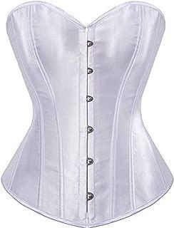 Plus Size Women Overbust Boned Lace-up Satin Bridal Corset Bustier Llingerie Brocade Top