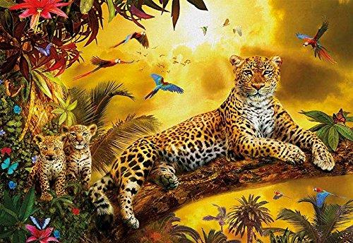 Puzzle 500 Leopardo con Sus Cachorros, Multicolor (17736)