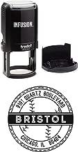 Infusion Personalized Baseball Sports Return Address Stamp - 1-5/8