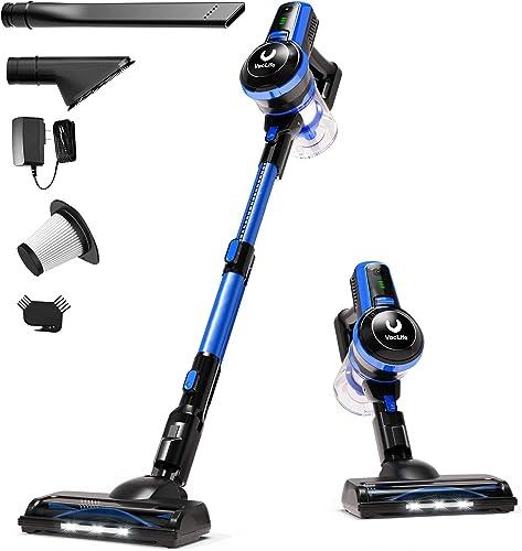 2021 VacLife wholesale Stick Vacuum Cleaner, 4-in-1 Cordless Vacuum Cleaner for Hard Floors, Carpets & Hair, Cordless Stick Vacuum Cleaner sale with Headlight & Quadruple Filtration, Model: H20-180, Blue (VL722) online