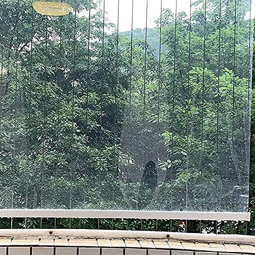 LFFTDM ZL Pérgola Al Aire Libre Shade Shade Blind, PVC Transparente Cortina Impermeable Grande Plástico Vertical Partition Partition para La Cocina Balcón Baño(Size:130x160cm/51.2x63in)