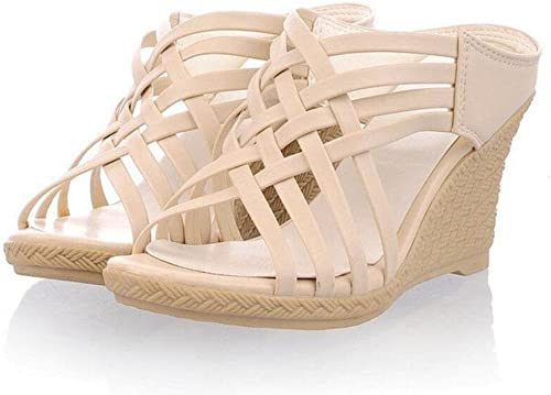 Sandales pour femmes Pentes Pantoufles romaines Peep Toe Pumps Talon Chaussures Beige Jaune Rouge Vert