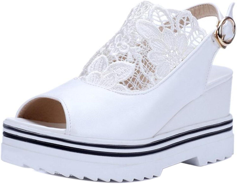 TAOFFEN Women Wedge Heels Sandals shoes Straps