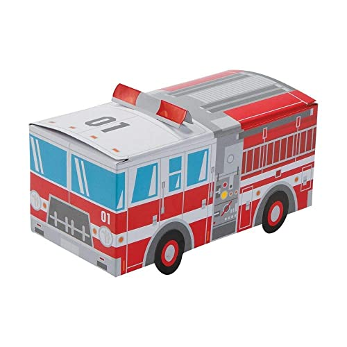 Fire Truck Party Favor Treat Boxes
