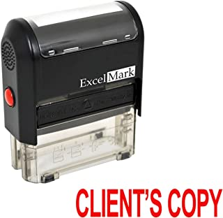 ExcelMark Clients Copy Self Inking Rubber Stamp - Red Ink (A1539)