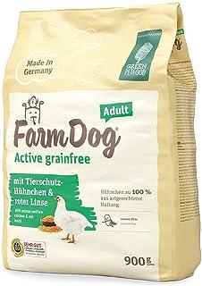 Green Petfood FarmDog Active Grainfree (1 x 4,5 kg) | Cibo per cani senza cereali con pollo e lente rossa | Cibo secco sos...