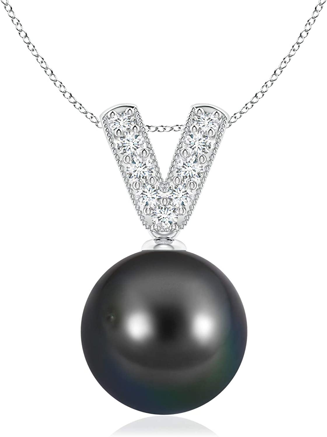 Low price Tahitian Cultured Pearl Diamond 10mm Pendant V-Bale All items in the store