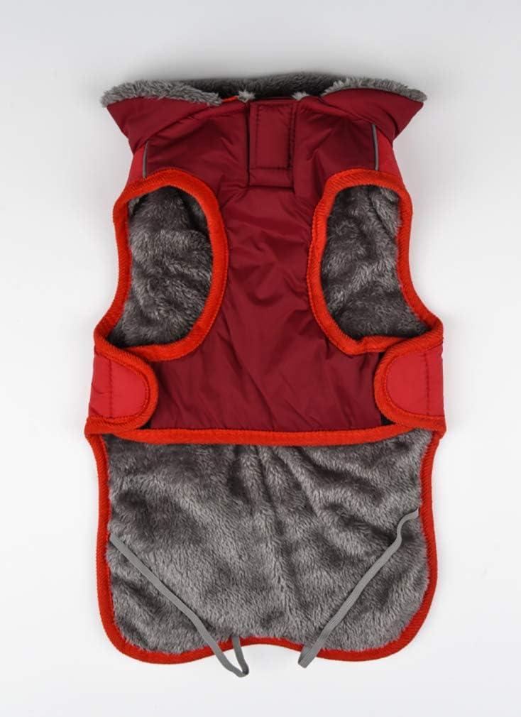 ropa c/álida medianos y grandes chaleco para perros peque/ños Sunnykud chaqueta para invierno Abrigo reflectante para perros resistente al agua cortavientos chaqueta de felpa