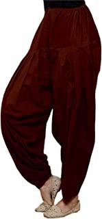 Patrorna Women's Cotton Silk Patiala Salwar With Pockets (Maroon, XS-10XL)
