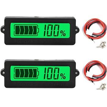 12V 24V 36V 48V LCD Auto Säure Blei Lithium Batterie Kapazität Anzeige Monitor