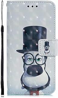 DENDICO - Carcasa para iPhone X/XS (Piel sintética, función Atril), diseño de Cartera