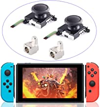 2-Pack 3D Replacement Joystick Analog Thumb Stick for Switch Joy-Con Controller with Metal Lock Buckles Replacement