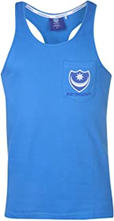 Team FC Muscle Vest Mens Blue Singlet Tops Tank Small