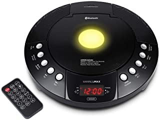 HANNLOMAX HX-330CD CD Player, FM Radio, Bluetooth, Alarm Clock, Red LED Display, USB Port for Charge/MP3 Playback, Aux-in,...