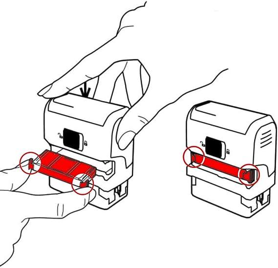 6//4750 Ink Cassette for Trodat Metal Line 4750-6 Colours Available 6//4750A /– Black