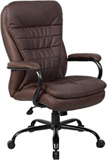 Boss Office Products Heavy Duty Double Plush LeatherPlus Chair with 350lbs Weight..