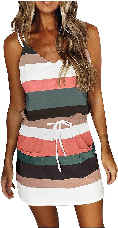 Women's Summer V Neck T Shirt Striped Max 66% Max 47% OFF OFF Block Dress Color Casual P