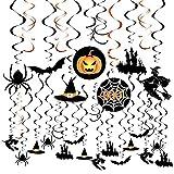 Weeygo 30 Pezzi decorazioni da appendere di Halloween Appendere Zucca Fantasma Ragnatela Addobbi Orrore Puntelli per festa di Halloween