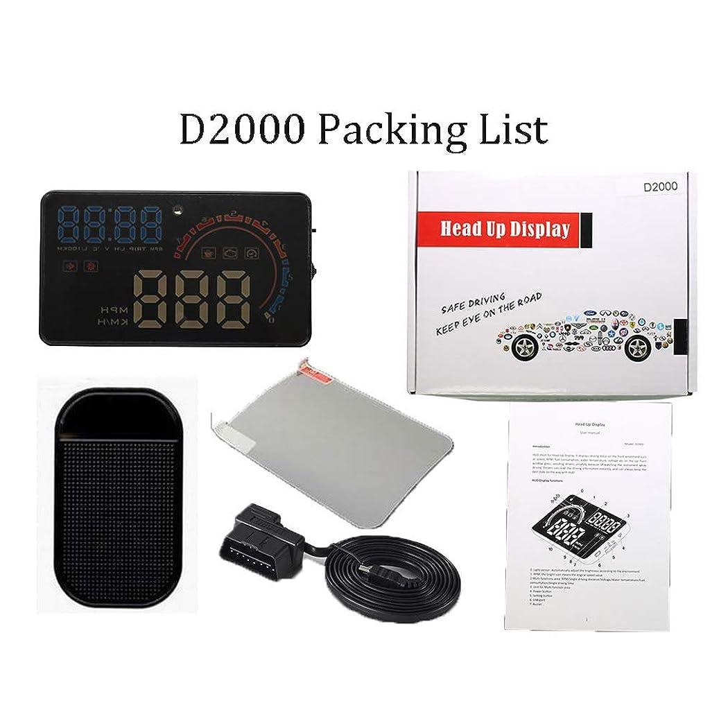 いっぱい品整然としたOBD2 HUD車のヘッドアップディスプレイ5.5