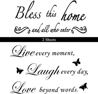 2 Sheets Wall Decal Sticker Vinyl Wall Decal Motivational Quote Wall Decal Inspirational Water-Proof for Living Room Bedro...