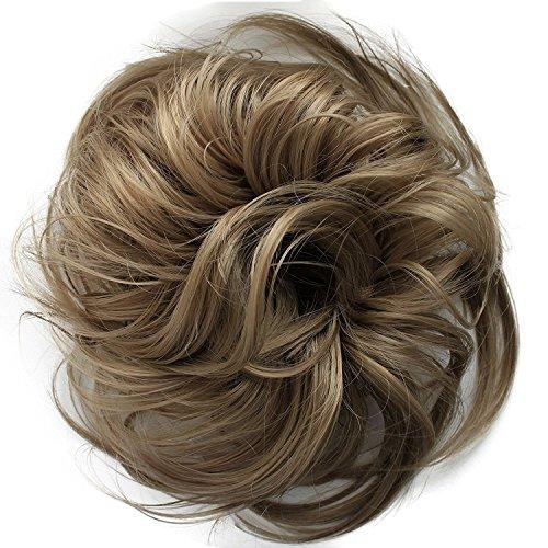 PRETTYSHOP Postizo Coletero Peinado alto, rizado, Mono descuidado,natural de rubio # 103 G25B