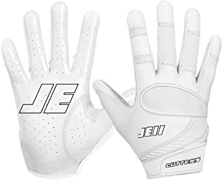 Cutters Julian Edelman Football Glove, Extreme Grip & Breathable Receiver Gloves, Flexible, Comfortable and Durable, Youth & Adult Sizes, 1 Pair