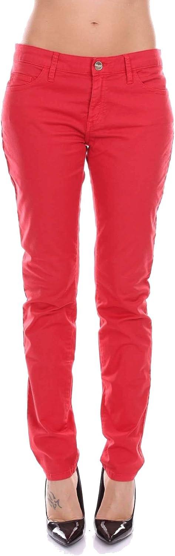 bluegirl Women's 5516152 Red Cotton Jeans