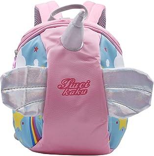 Mochila para niños de 1 a 5 años con cinturón Walkers Tether y correa para caminar, mochila con bolsillos (rosa)