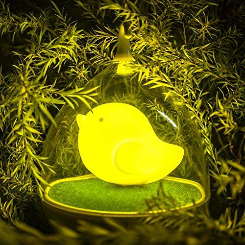 Luce Notturna GARY&GHOST Lampada di Notte Nightlight 0.5W USB LED Lampada da Tavolo Ricaricabile Portatile Uccello in Gabbia Birdcage Toccare Touch Sensor Camera da Bambini Regalo Natale Giallo