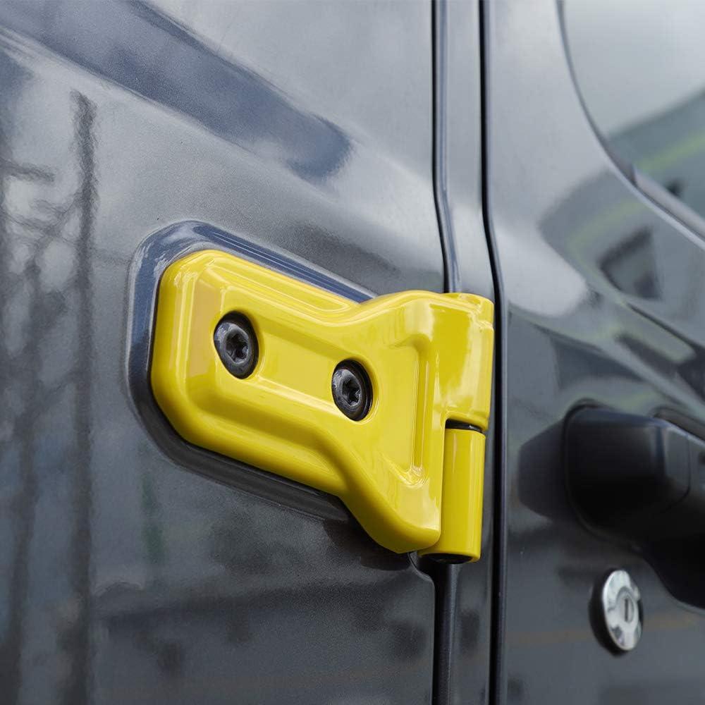 8PCs Green JeCar Door Hinge Cover ABS Hinge Decor Exterior Accessories for 2018-2020 Jeep Wrangler JL 4 Door/&2 Door