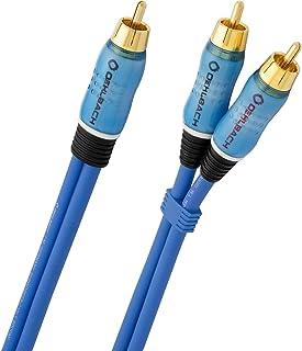 Oehlbach BOOOM   Subwoofer Y Cinch Kabel (2 x Cinch auf 1 x Cinch, druckvolle Basswiedergabe & effektive Schirmung)   blau, 15 Meter