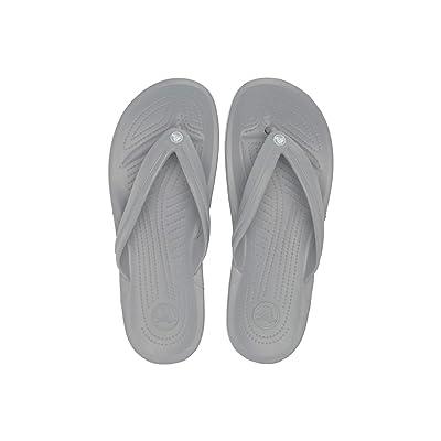 Crocs Crocband Flip (Light Grey/White) Shoes